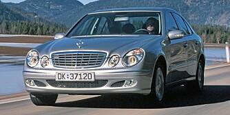 BEST: Forrige generasjon Mercedes E-klasse kommer best ut av NAFs stoppstatistikk. Foto: Terje Bjørnsen