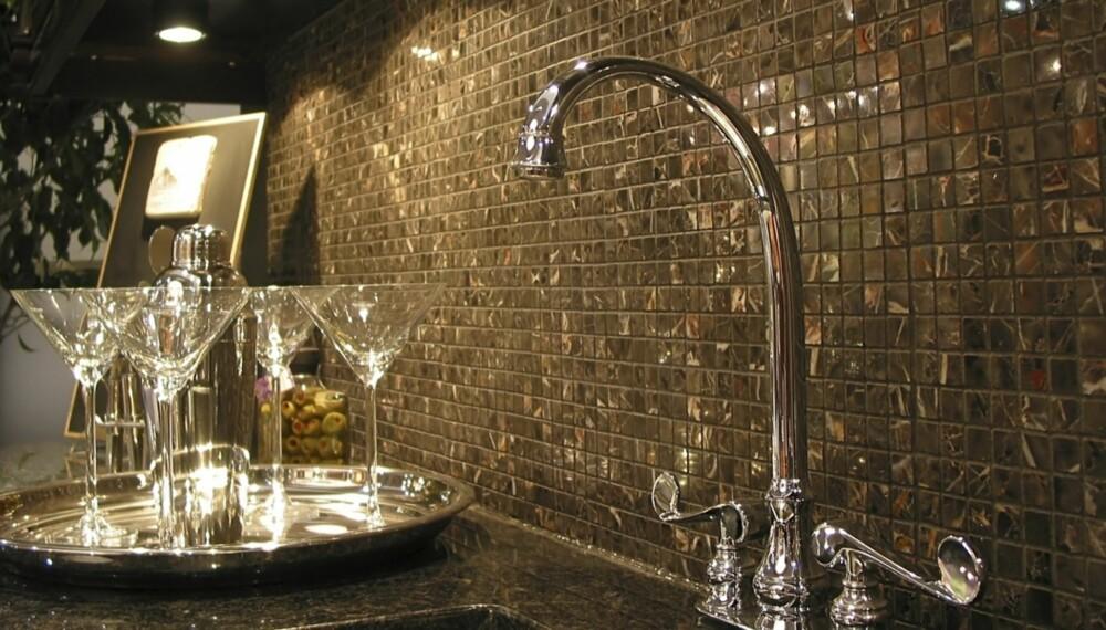 LEKKERT: Fliser, naturstein eller mosaikk kan skape wow-effekten på kjøkkenet ditt. (Illustrasjonsfoto)