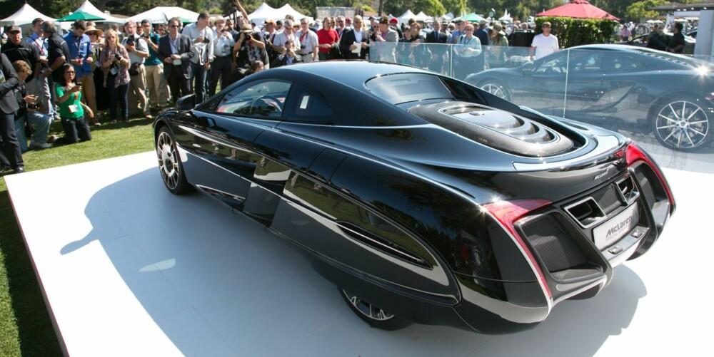 BATMOBIL: One-off superbilen McLaren X-1. Foto: Newspress
