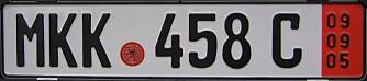 EKSPORTSKILTER: Sik ser de tyske eksportskiltene ut. Fra 1. august kan du kjøre med slike frem til de løper ut, men maks 30 dager.