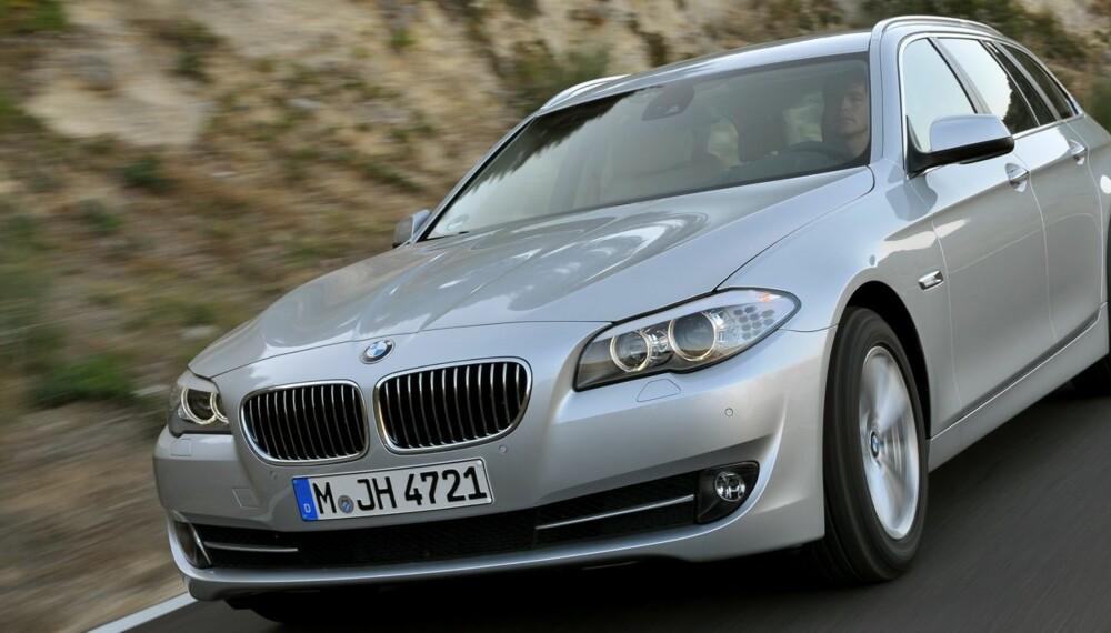 POPULÆR: BMW 5-serie er den mest populære bilen å importere. Foto: BMW AG