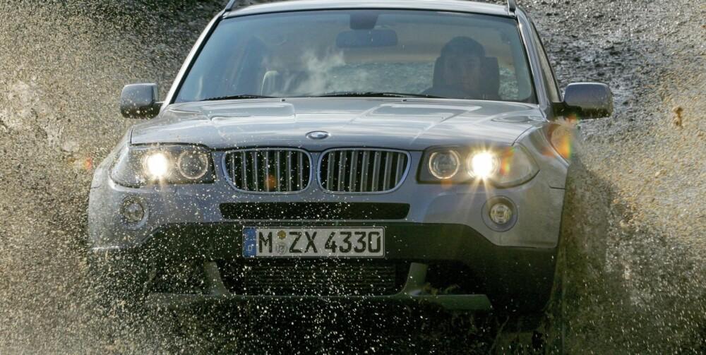 SPORTSLIG: BMW X3 er blant de de aller mest sportslige SUV-ene, og den tekniske kvaliteten er meget god. Foto: BMW