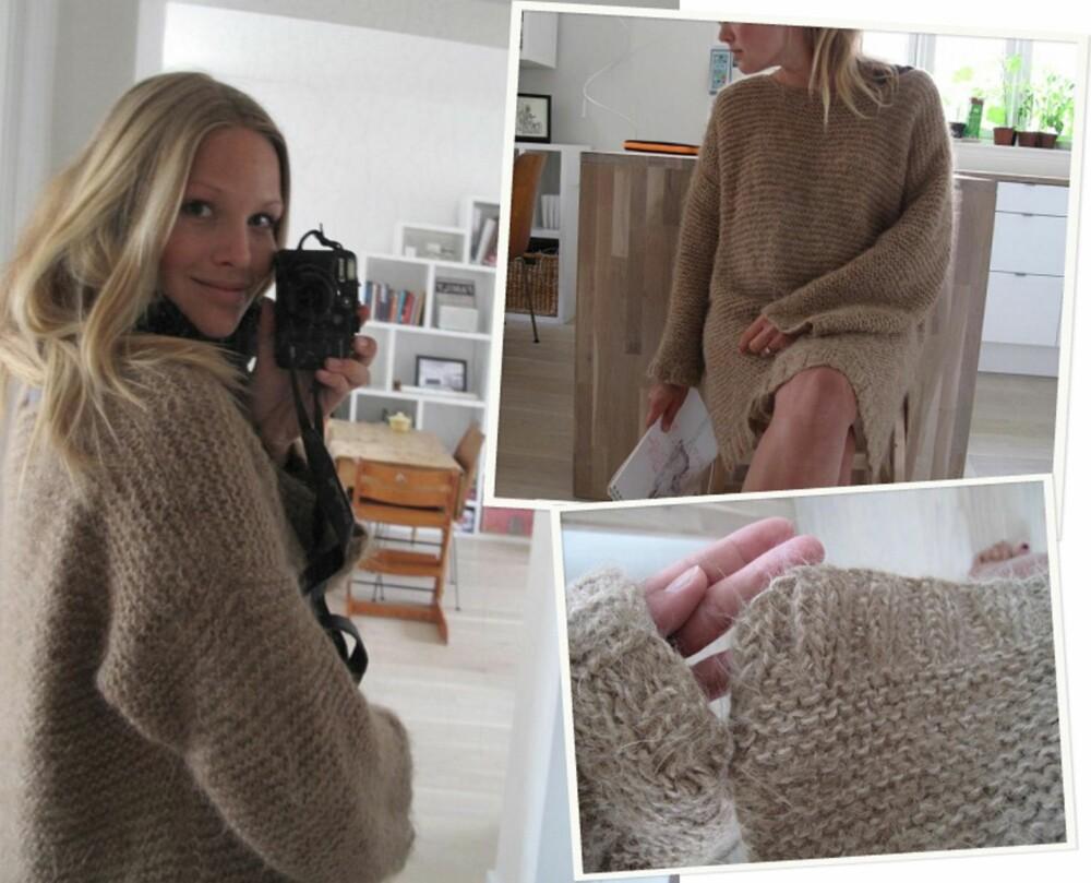 SKAPPEL-GENSEREN: Her er Maria i sin fine Skappel-genser.
