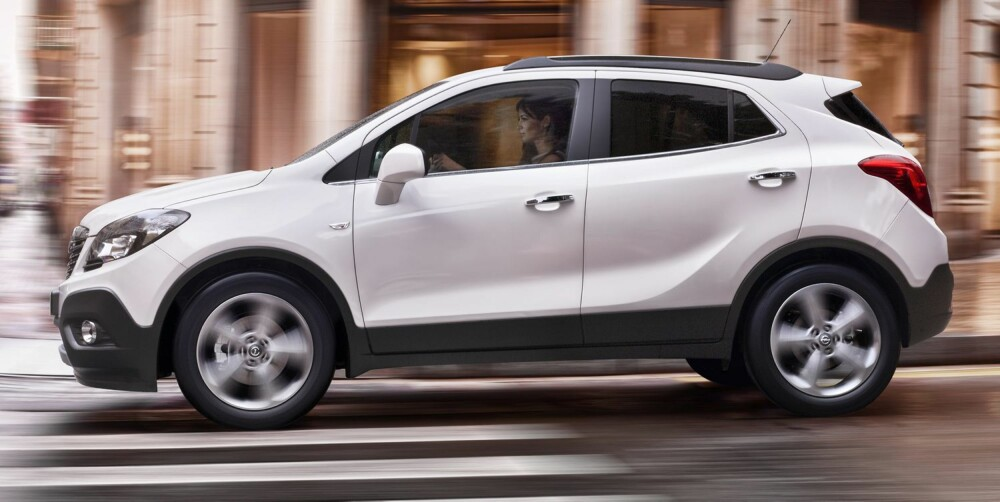 MINI-SUV: Opel Mokka er 4,28 meter lang. Foto: Opel