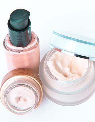 IKKE OVERDRIV: Huden blir stresset av for mange produkter.
