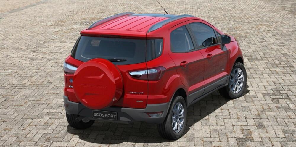 ECOSPORT: Bilen har 20 centimeters bakkeklaring for en lastekapasitet på 346 liter med alle setene i oppreist posisjon. Foto: Ford