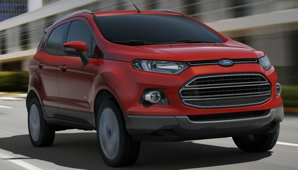 MOKKA-KONKURRENT: Mini-SUV-en Ford EcoSport kommer til Norge en gang i løpet av de neste 18 månedene. Foto: Ford