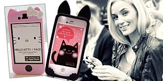 MOBILCOVER: Hello Kitty og Ko-Ko Kat mobildekslene er noen av de store gjengangerne. Blogger og modell Camilla Pihl har landets største og fineste mobilcover-samling. Mange lager hun selv også.