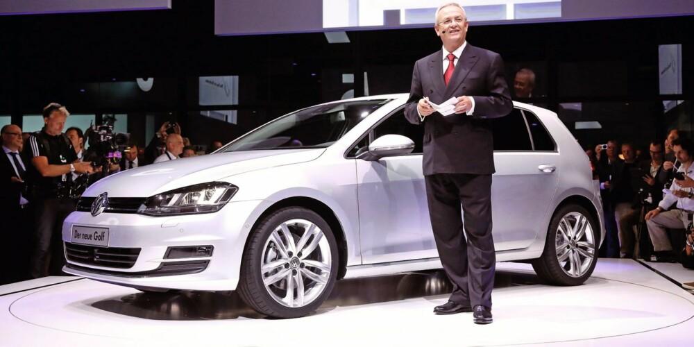 LANSERT: VW-boss Prof. Dr. Martin Winterkorn lanserte nye VW Golf 4.september. Foto: VW