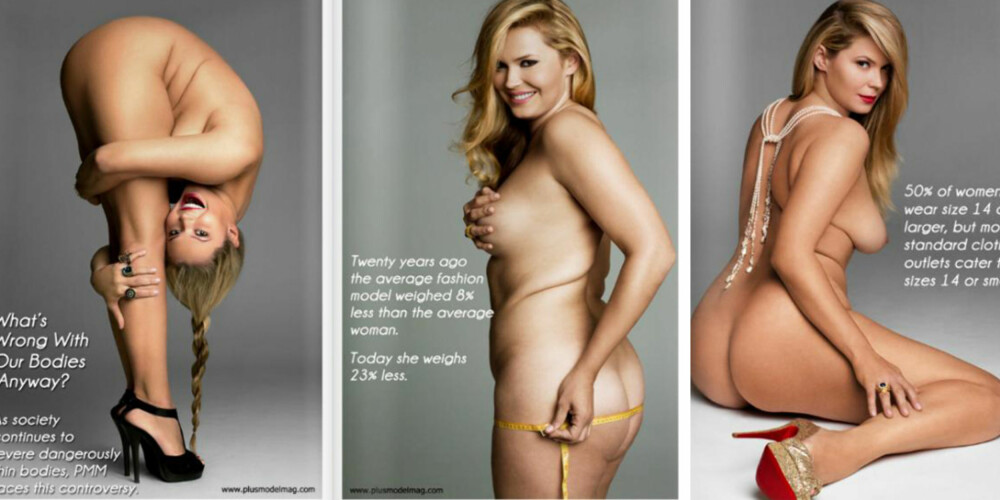 HVA ER GALT MED DENNE KROPPEN: Da amerikanske Plus Model Magazine trykket disse bildene av plus-size modellen Katya Zharkova skapte det en medie-storm uten sidestykke.