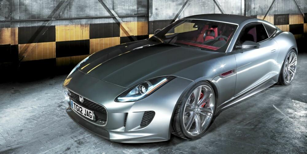 KONSEPTBILEN: Her er C-X16-konseptet Jaguar viste frem i fjor. F-Type blir ganske lik utseendemessig.
