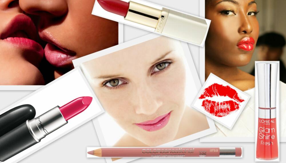 PÅ ALLES LEPPER: I et hav av leppestifter, lipgloss og leppeliner er det ikke alltid lett å vite hvilken som kler deg best.