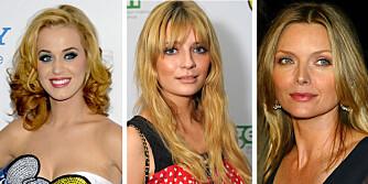 GULT ER IKKE KULT: Både Katy Perry, Micha Barton og Jodie Foster har alle opplevd alle blondiners hårproblem: Gulskjær i håret.