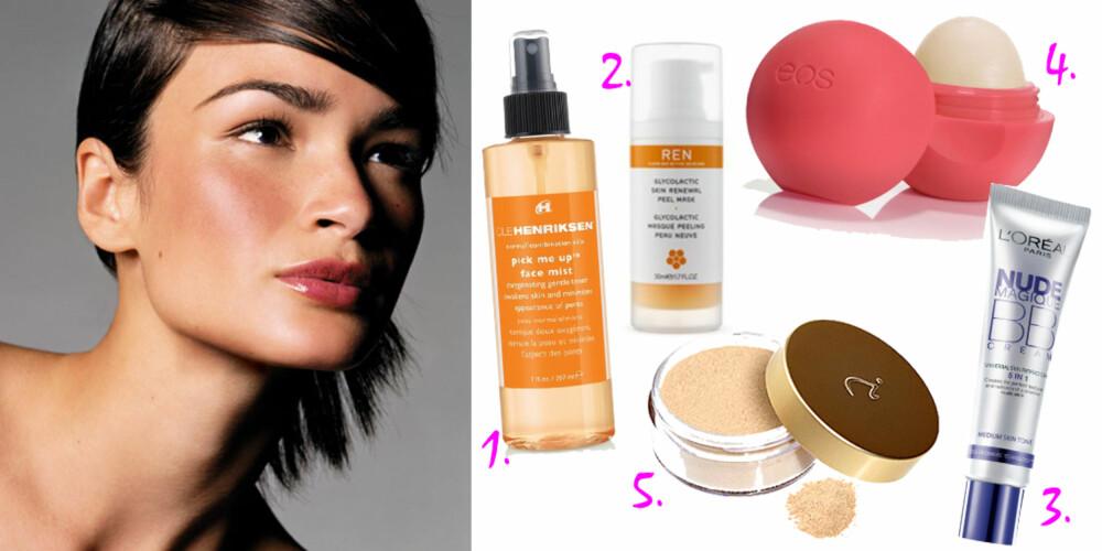 MONIKAS FAVORITTER: Disse produktene er et must-have for hudpleier og skjønnhetsjournalist Monika Tøraasen.