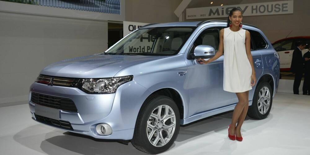 HYBRID: Mitsubishi Outlander kommer etter planen som plug-in hybrid til Norge etter sommeren neste år. FOTO: Newspress