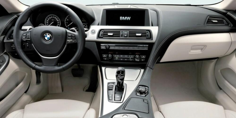 FØRERMILJØ: BMW-style. FOTO: BMW