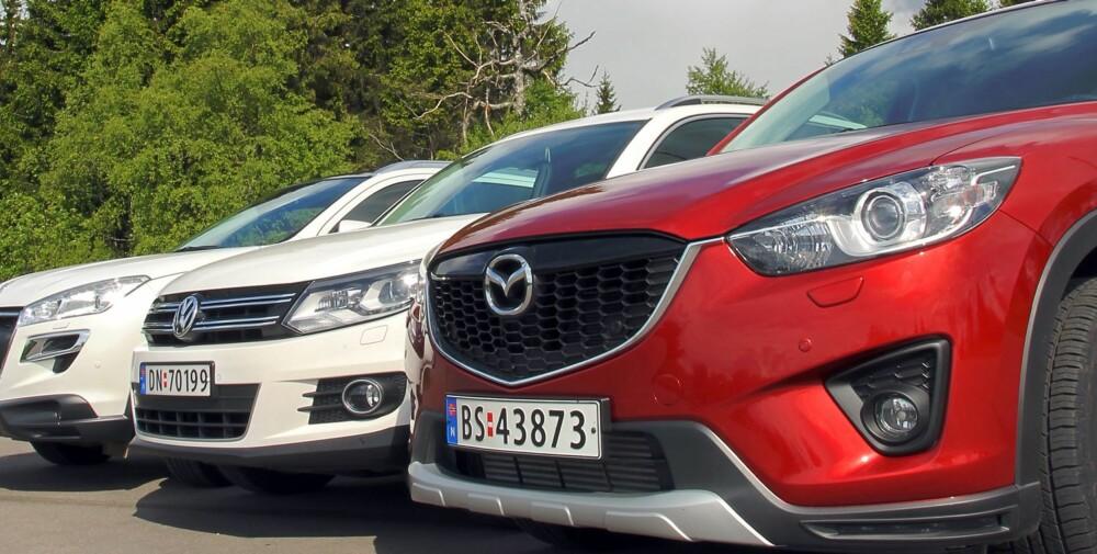 BEST: Mazda CX-5 har gjort det veldig bra i våre tester. FOTO: Terje Bjørnsen