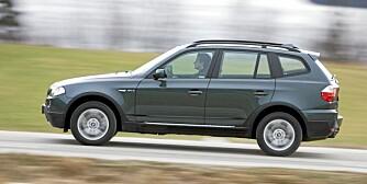 BMW X3: Sportslige veiegenskaper, grei plass og svært godt omdømme.