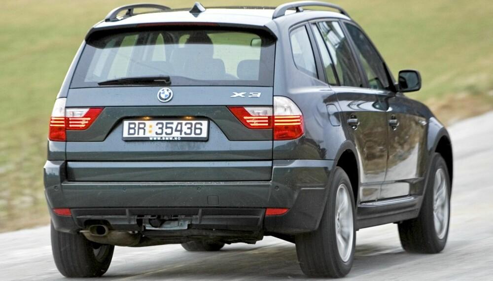 TYPISK: BMW X3 er en typisk BMW også som brukt; stram i linjene og sporty kjørefølelse. FOTO: Terje Bjørnsen