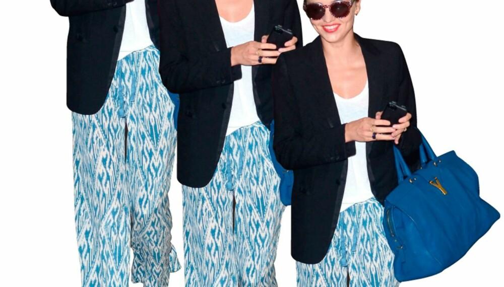 Gjør som Miranda Kerr og velg en løs og mønstrete bukse.