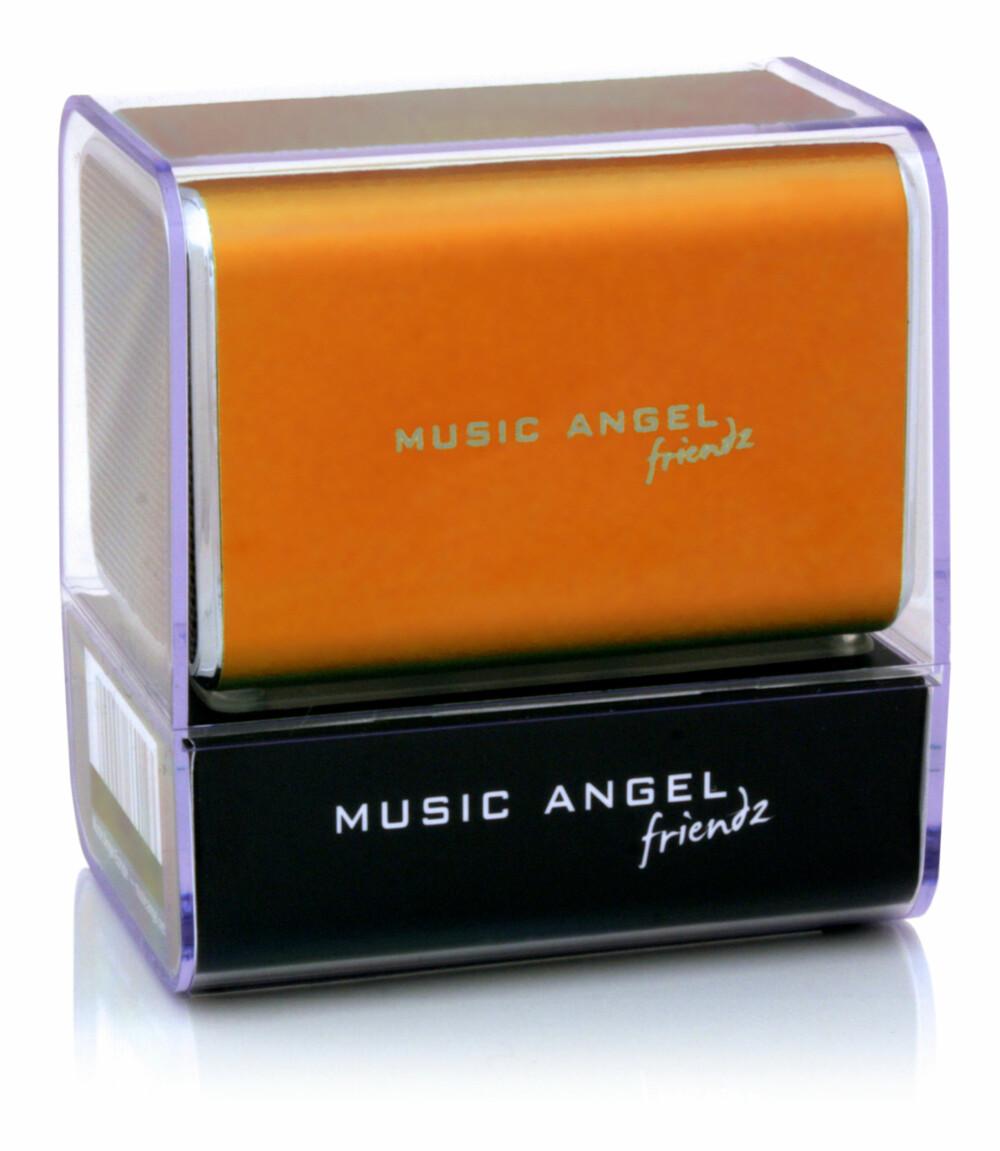 INNPAKNING: Oppfinneren av Music Angel Friendz tror innpakningen er en av flere årsaker til at høyttaleren har solgt så bra.