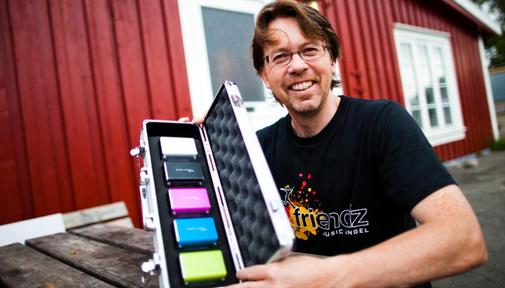 300.000: Baard Johannessen har solgt over 300.000 av minihøyttaleren Music Angel Friendz i Norge. Nå står Europa og USA for tur.