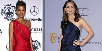 PENE: Både HAlle Berry og Jennifer Garnier er pene jenter, me hvem kledde kjolen best?