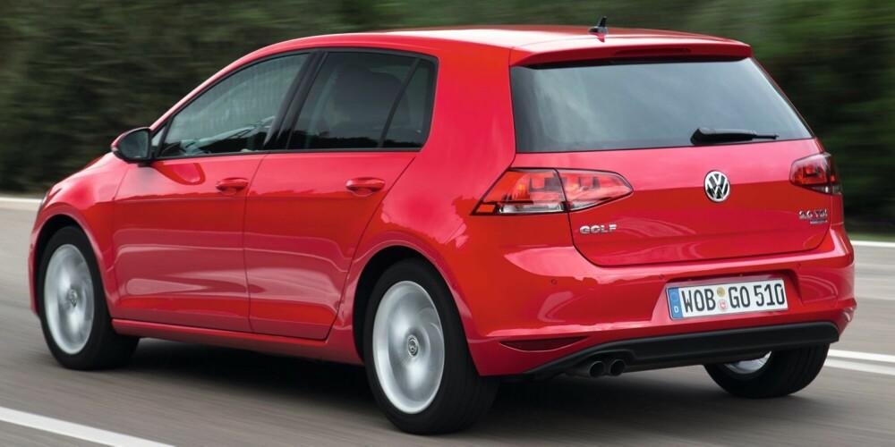 LETTERE: Golf VII er en av få som er lettere enn forgjengeren, selv om den har vokst med 6 cm. FOTO: VW