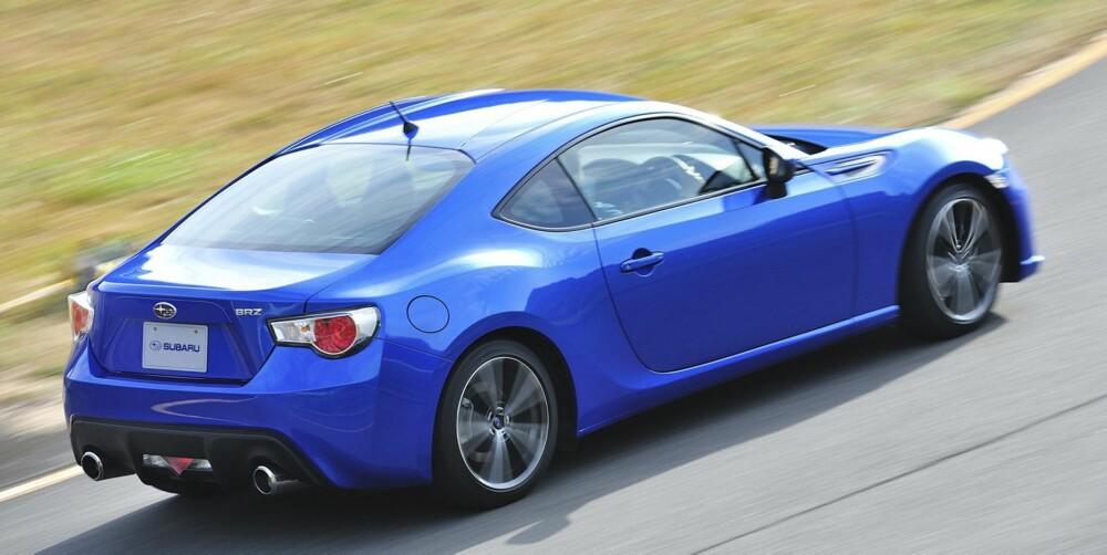 BRØDRE: Subaru BRZ er svært lik Toyota GT 86, og er et resultat av samarbeidet mellom Toyota og Subaru. FOTO: Subaru