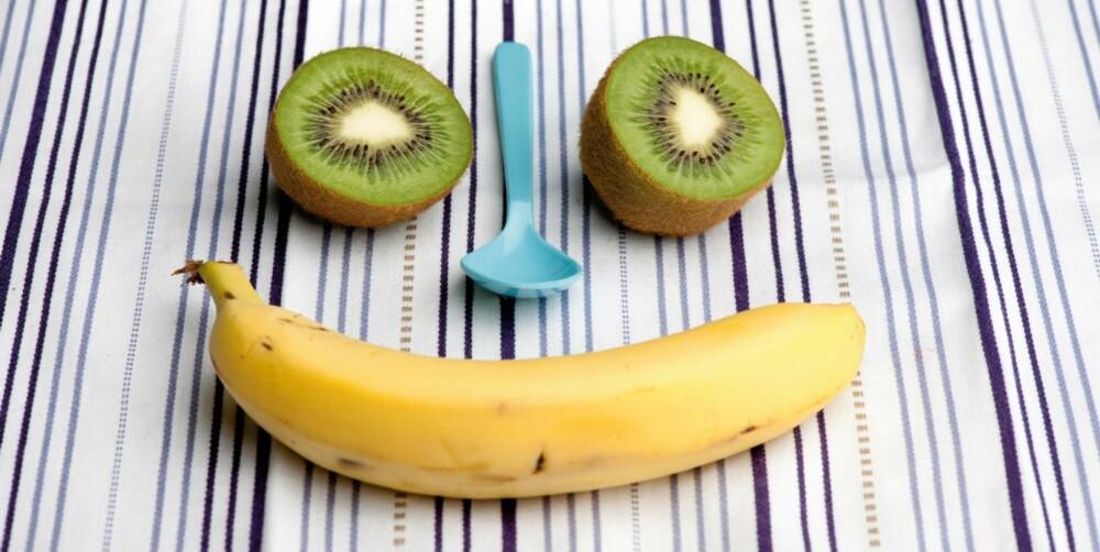 Banan er nummer en på listen. Vi spiser suverent mest av denne frukten. Foto: frukt.no/ Morten Brun