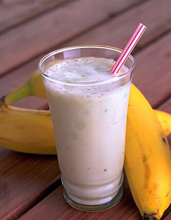 Nam! Prøv en deilig bananshake. Foto: frukt.no/ Kim Holthe