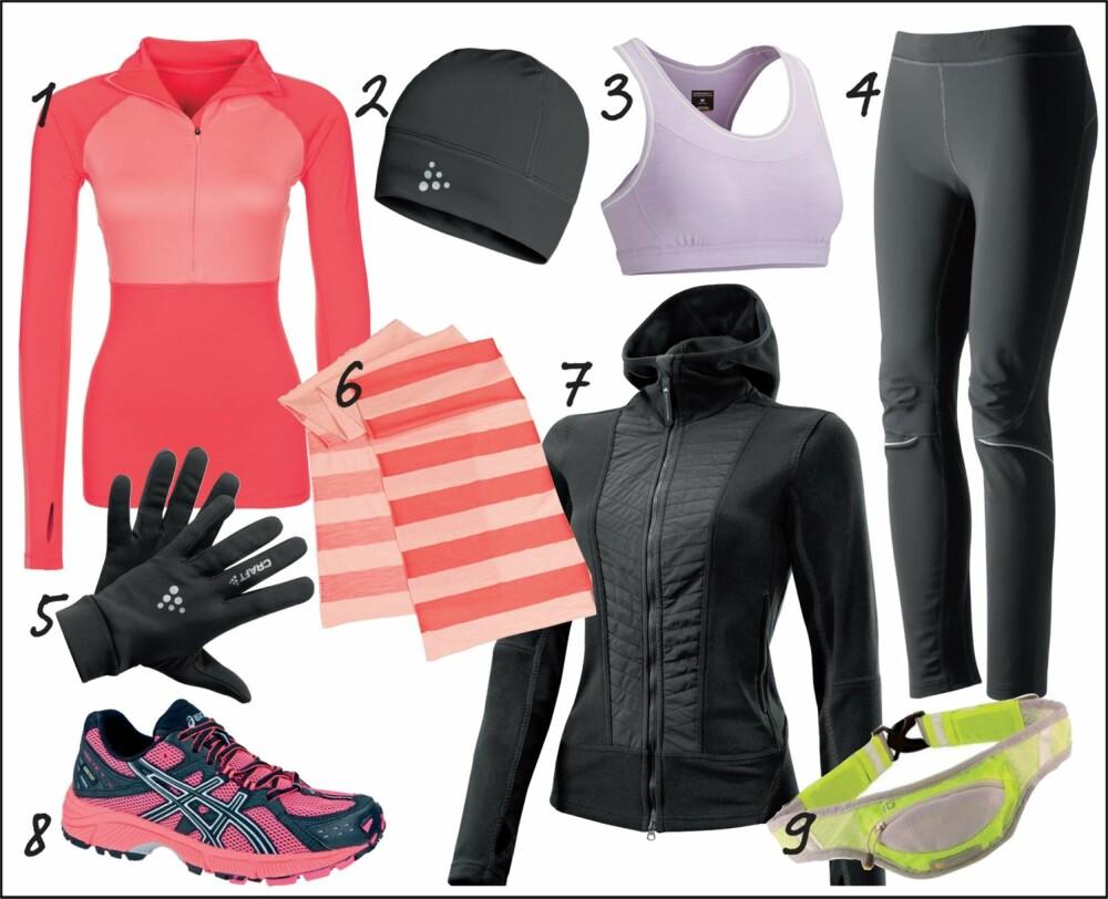 UTENDØRSTRENING: Med disse plaggene er du sikret en behagelig joggetur i de kalde vintermånedene.