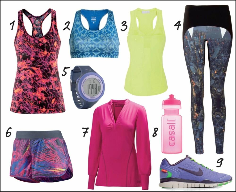 TRENDY BLIKKFANG: Vekk oppsikt på treningsenteret med fargesprakende klær og mye mønster.