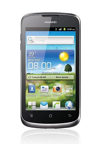 BILLIG: Huawei G300 er en billig og bra Android-mobil. Du får en 4 tommers skjerm og Android 4.0.