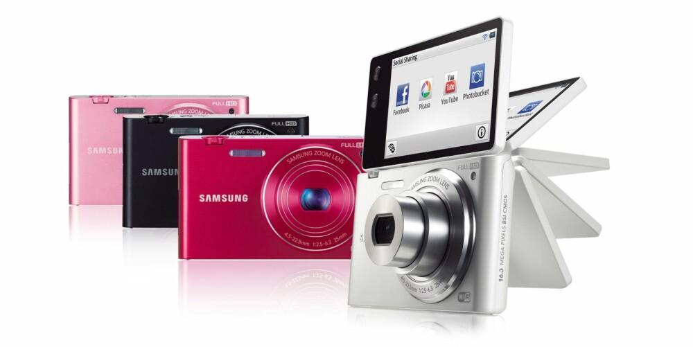 BLOGGERENS DRØMMEKAMERA: Dette kameraet må være en drøm for alle såkalte rosabloggere. Den vippbare skjermen gjør det enkelt å ta selvportretter. Da slipper du dårlige webkamerabilder eller bilder der det synes tydelig at du har tatt bildet selv.