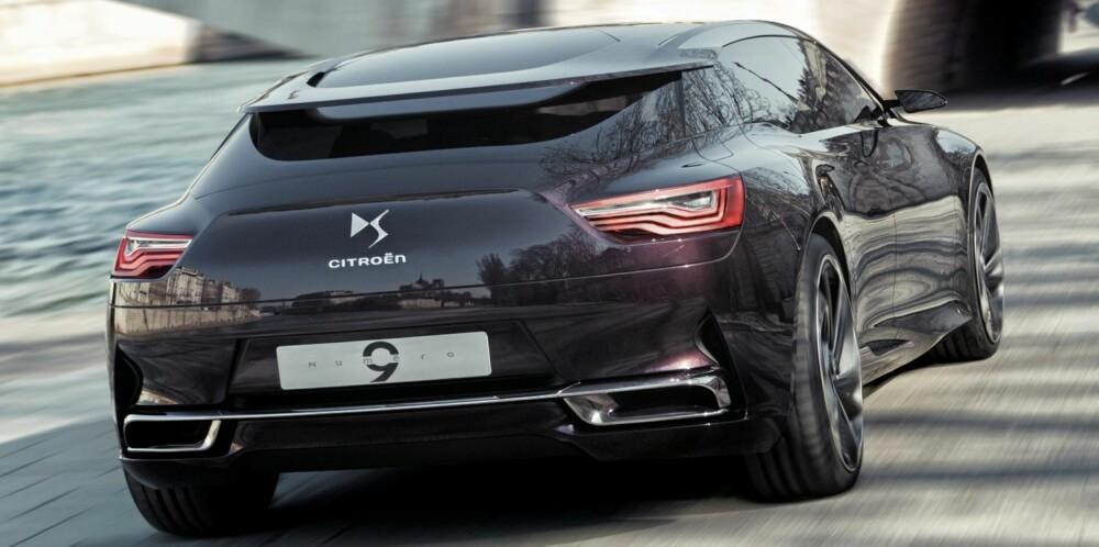 GJERRIG: Bilen skal yte maksimalt 295 hk, men ikke trenge mer enn 0,17 liter drivstoff per mil med et CO2-utslipp på 39 g/km. FOTO: Citroën