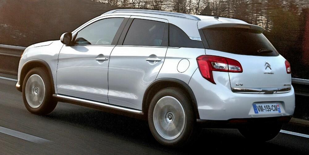 GJERRIG: Med dieselmotoren på 115 hk, start/stopp-teknologi og trekk på forhjulene skal C4 Aircross greie et forbruk på 0,46 liter per mil ved blandet kjøring og et CO2-utslipp på 119 g/km. FOTO: Citroën