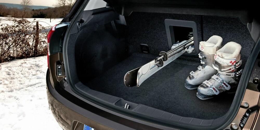 PLASS: Bagasjerommet er på 442 liter. FOTO: Citroën