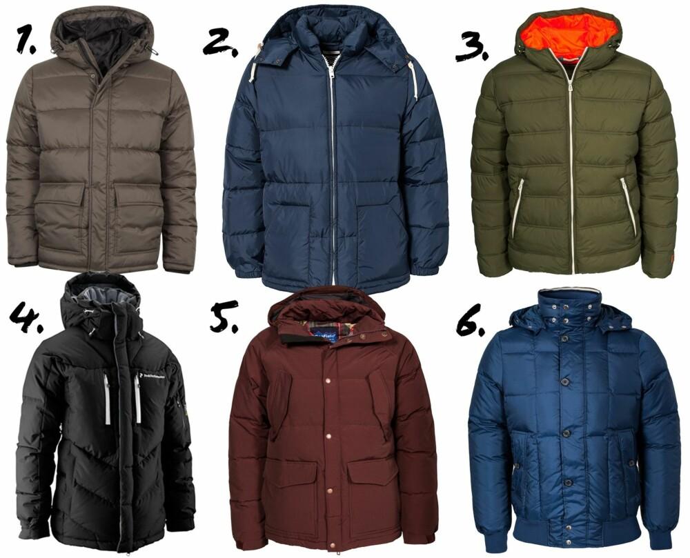 17944797 BOBLEJAKKER: Disse jakkene holder deg varm vinteren igjennom.
