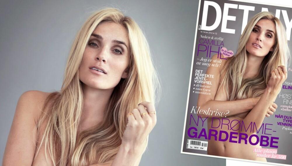 COVERGIRL: Slik ser siste utgave av Det Nye ut, med vakre Camilla Pihl på coveret.