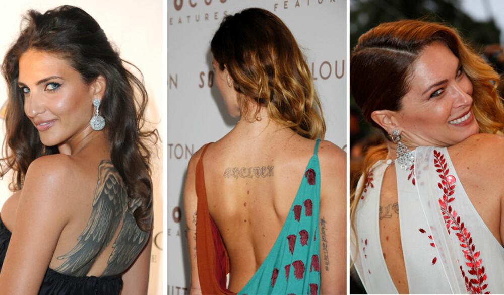 SEXY: Supermodellene Karen K og Erin Wasson har begge pyntet på kroppen med nål og blekk.