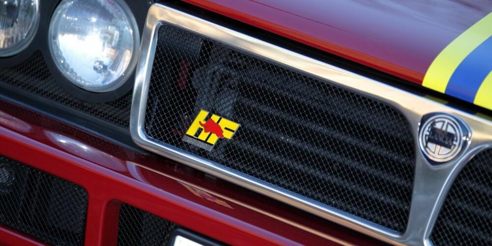 KLUBBEN: HF er initialer du finner på mange sportslige Lancia-modeller, og har røtter fra 60-talletr og en eksklusiv Lancia-klubb, kalt Hi Fi Club. FOTO: Egil Nordlien, HM Foto