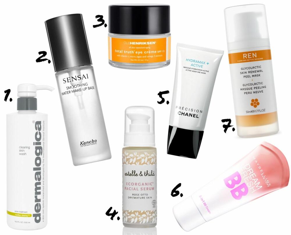 PERFEKTE SKJØNNHETSPRODUKTER: Disse produktene hjelper deg på veien til strålende hud.