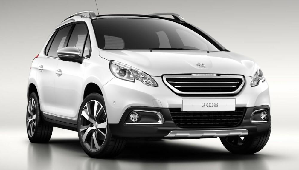CROSSOVER: Peugeot 2008 er på sett og vis 208 med høyere bakkeklaring. ALLE ILLUSTRASJONER: Peugeot
