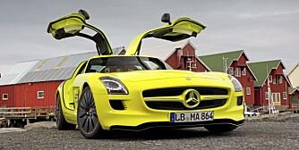 EKSTREM: SLS AMG er på mange måter en ekstrem bil. I E-Cell-utgave er den enda heftigere.