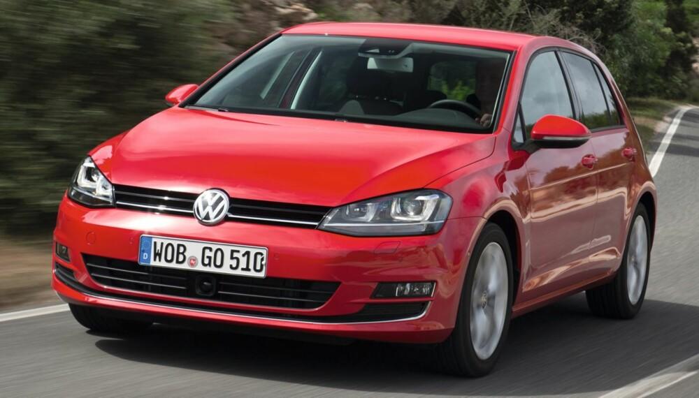 LENGRE: Nye VW Golf er noe større enn forgjengeren, men også lettere. FOTO: VW