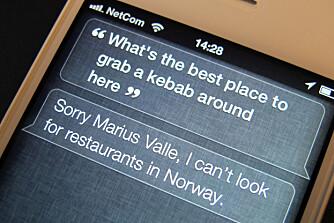BEGRENSNINGER: Siri fungerer foreløpig ikke optimalt i Norge.