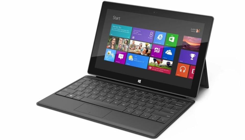 KOMMER NÅ: Microsoft Surface med Windows 8 kommer for salg i Norge i februar i år.