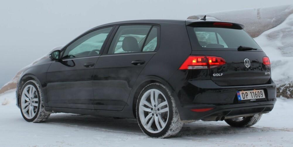 TESTET: VW Golf med 2,0 TDI og 150 hk. FOTO: Terje Bjørnsen