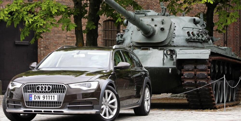 STORMPANSER: Den nye Audi A6 Allroad er bygget for å ta seg frem over alt. Også i forbikjøringsfeltet når du trykker på gassen.